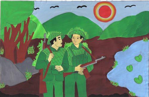 """dong vai nguoi linh trong bai dong chi 2 - Top 6 bài văn đóng vai người lính trong bài thơ """"Đồng chí"""" kể lại câu chuyện lớp 9 mới nhất"""