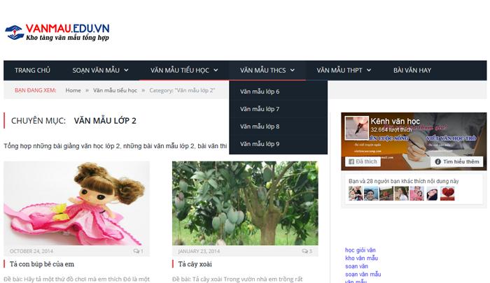 top 10 website nhung bai van mau hay lop 2 moi nhat 2 - Top 10 website những bài văn mẫu hay lớp 2 mới nhất