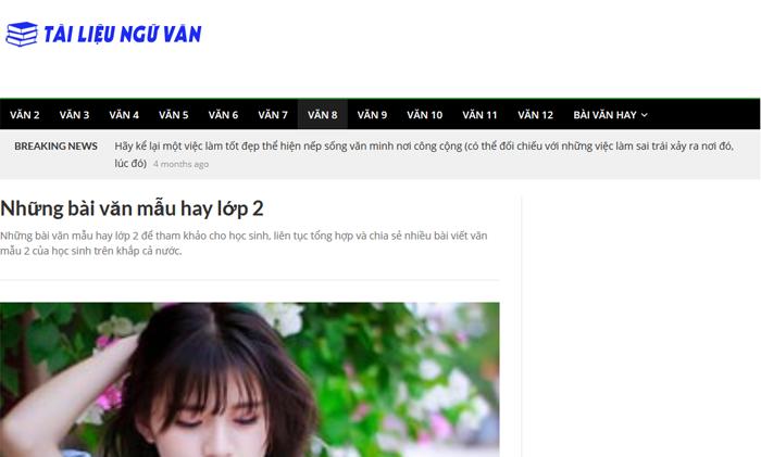 top 10 website nhung bai van mau hay lop 2 moi nhat 3 - Top 10 website những bài văn mẫu hay lớp 2 mới nhất