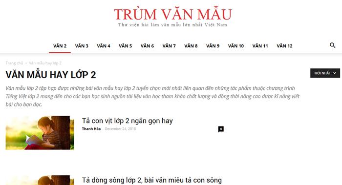 top 10 website nhung bai van mau hay lop 2 moi nhat 4 - Top 10 website những bài văn mẫu hay lớp 2 mới nhất