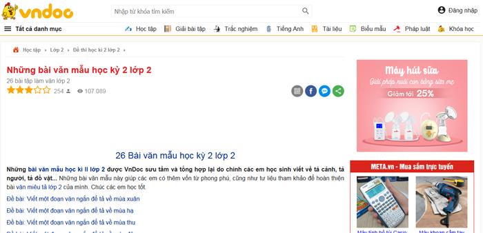 top 10 website nhung bai van mau hay lop 2 moi nhat 5 - Top 10 website những bài văn mẫu hay lớp 2 mới nhất