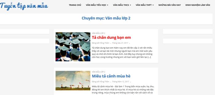 top 10 website nhung bai van mau hay lop 2 moi nhat 7 - Top 10 website những bài văn mẫu hay lớp 2 mới nhất