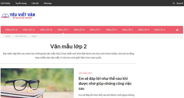 top 10 website nhung bai van mau hay lop 2 moi nhat 9 - Top 10 website những bài văn mẫu hay lớp 2 mới nhất