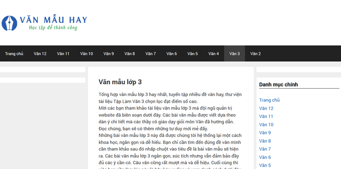 top 10 website nhung bai van mau hay lop 3 moi nhat 3 - Top 10 website những bài văn mẫu hay lớp 3 mới nhất