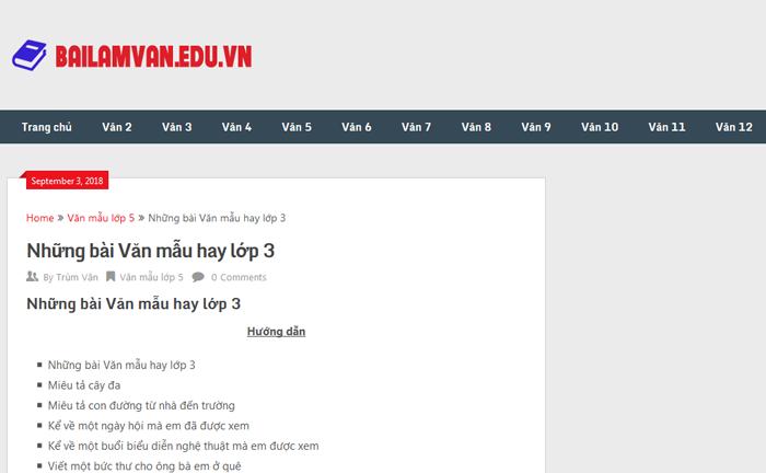 top 10 website nhung bai van mau hay lop 3 moi nhat 7 - Top 10 website những bài văn mẫu hay lớp 3 mới nhất