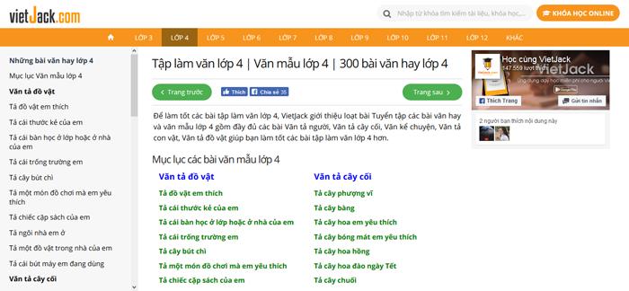 top 10 website nhung bai van mau hay lop 4 moi nhat 2 - Top 10 website những bài văn mẫu hay lớp 4 mới nhất