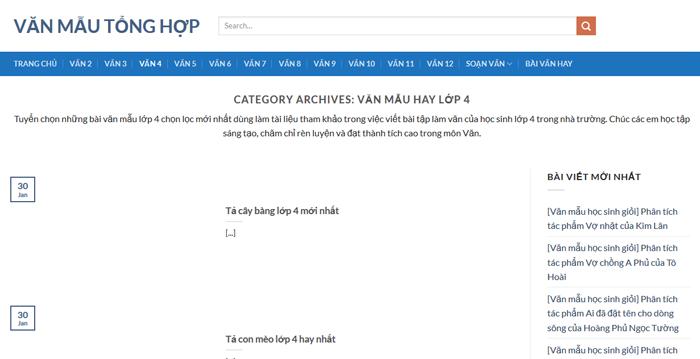 top 10 website nhung bai van mau hay lop 4 moi nhat 7 - Top 10 website những bài văn mẫu hay lớp 4 mới nhất