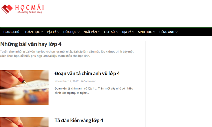 top 10 website nhung bai van mau hay lop 4 moi nhat 8 - Top 10 website những bài văn mẫu hay lớp 4 mới nhất