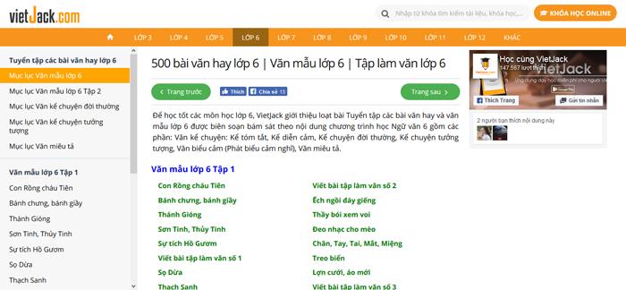 top 10 website nhung bai van mau hay lop 6 moi nhat 5 - Top 10 website những bài văn mẫu hay lớp 6 mới nhất