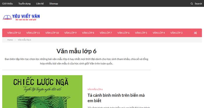 Top 10 website những bài văn mẫu hay lớp 6 mới nhất