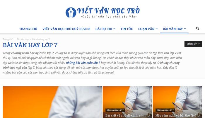 top 10 website nhung bai van mau hay lop 7 moi nhat 6 - Top 10 website những bài văn mẫu hay lớp 7 mới nhất