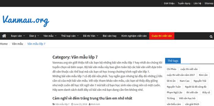 top 10 website nhung bai van mau hay lop 7 moi nhat - Top 10 website những bài văn mẫu hay lớp 7 mới nhất