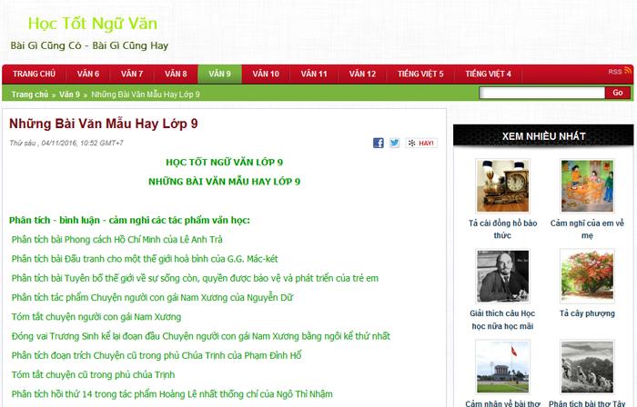 top 10 website nhung bai van mau hay lop 9 moi nhat 7 - Top 10 website những bài văn mẫu hay lớp 9 mới nhất